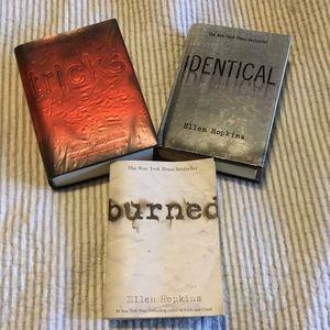 Ellen Hopkins Burned Tricks Identical Book Set